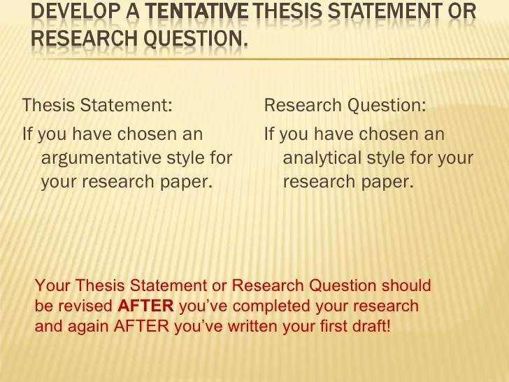 Tentative Thesis Research Paper Homework Writing Service