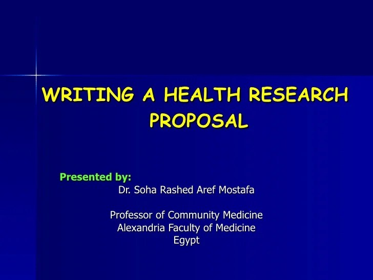Writing A Health Research Proposal
