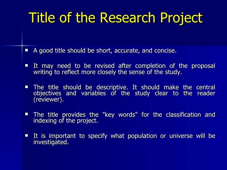 Proposal For Research Project Example Smart