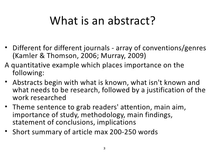 research methodology abstract