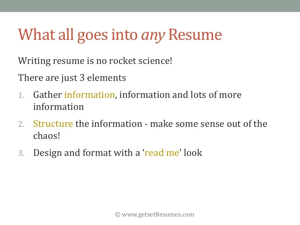 What Goes Into A Resume Getsetresumes What All Goes