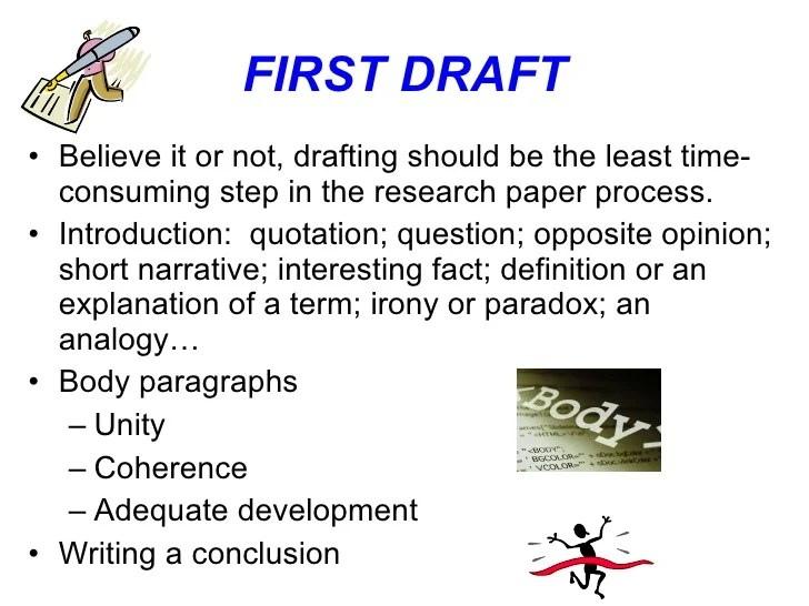First Draft Research Paper Sample Essay For You