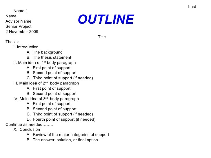 Format Of Essays Example Of An Essay Outline Format Short Samples Of
