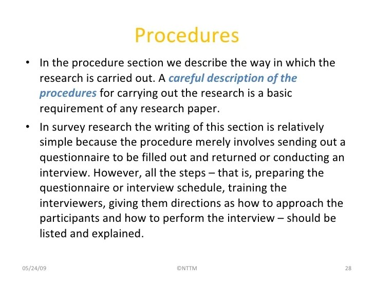 Methods Section Of A Research Paper Methods Section Of A Research