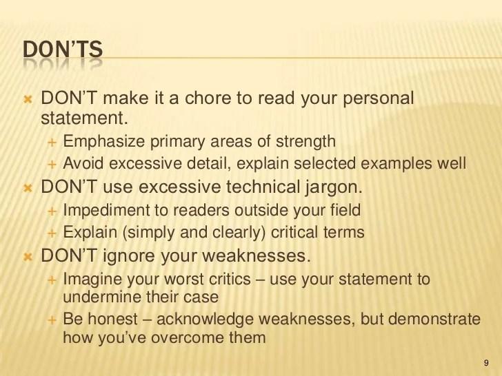 Writing a tenure statement 2011