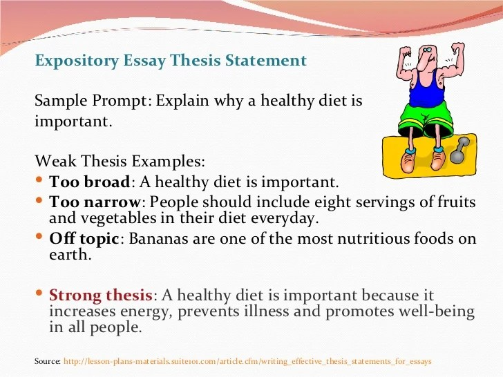 expository explanatory thesis statement term paper example