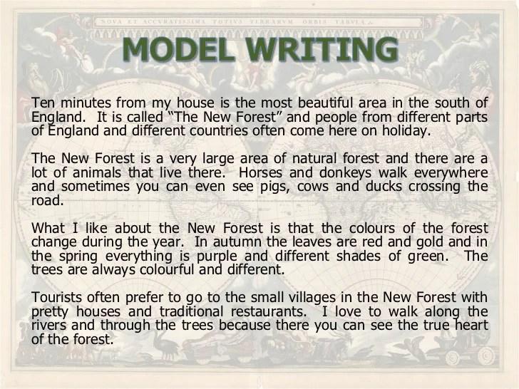 Writing Describing Places