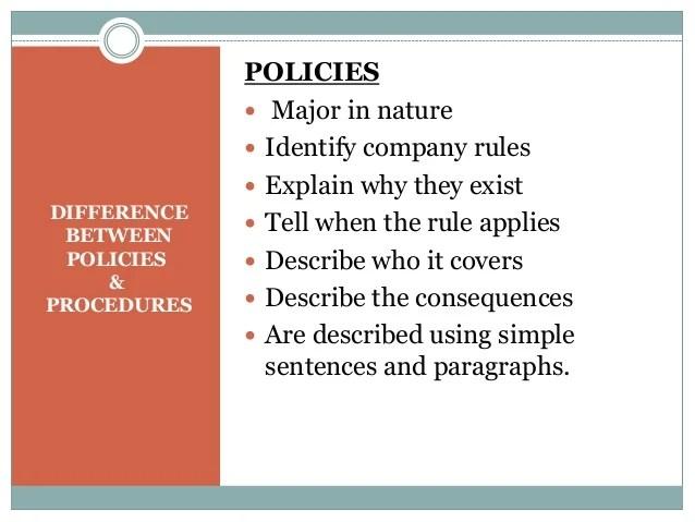 Writing Effective Policies & Procedures
