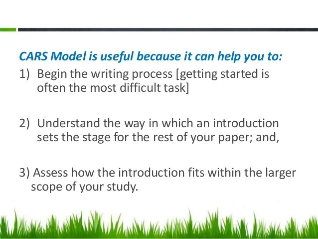 Writing Introduction In Research Report And Articles