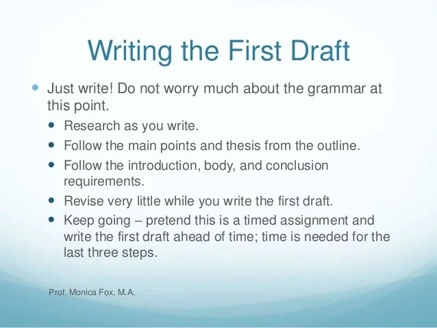 The 7 Steps Of The Writing Process By Monica Fox M A