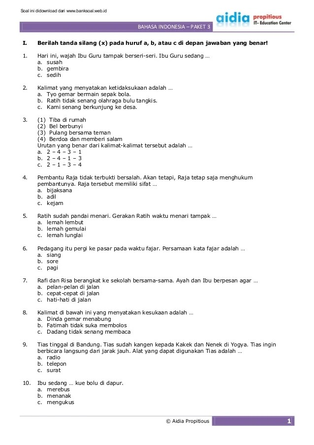 Soal Bhs Indonesia : indonesia, Contoh, Olimpiade, Bahasa, Indonesia, IlmuSosial.id