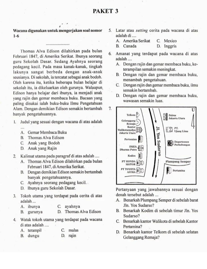 Try Out UNBK Bahasa Indonesia SMP 2019... | androidappsapk.co
