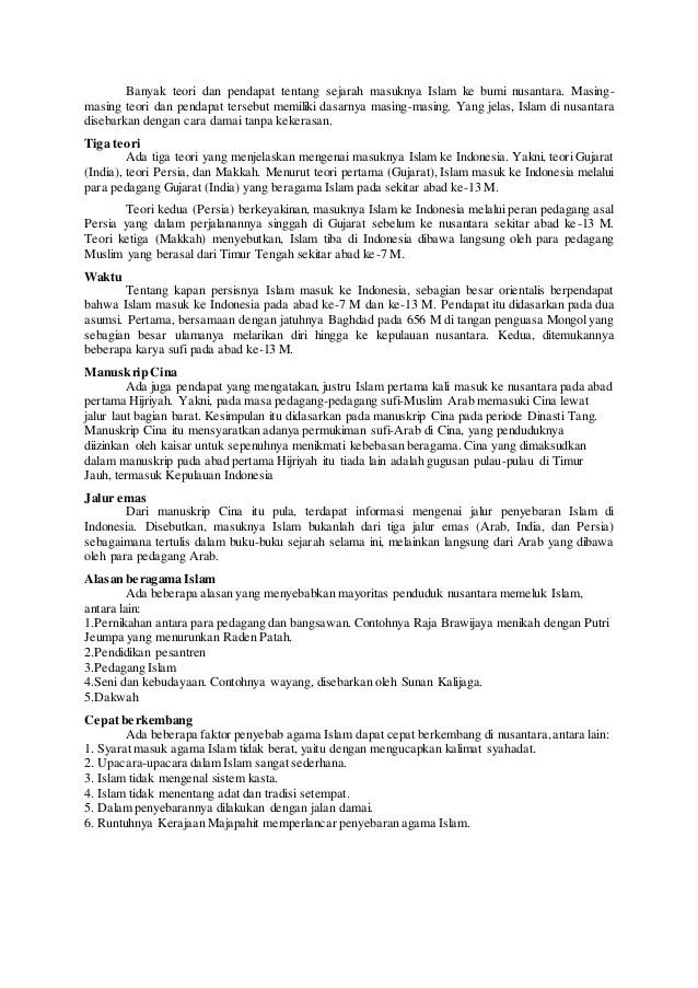 4 Teori Masuknya Islam Ke Indonesia : teori, masuknya, islam, indonesia, Jelaskan, Teori, Masuknya, Islam, Indonesia