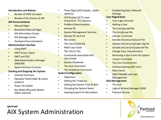 Xpertised AIX System Administration Online Training