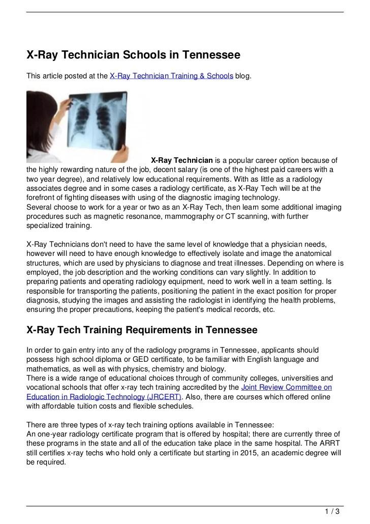 Radiologic Technologist Resume Examples