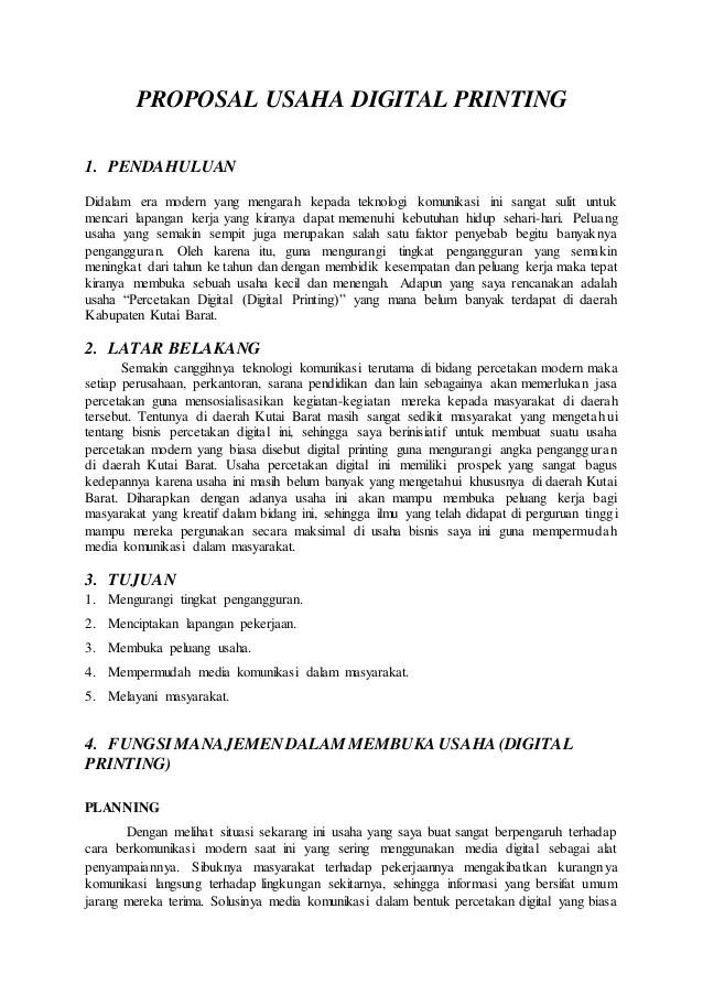 Contoh Bisnis Plan Bunga Bernitoh - OhTheme