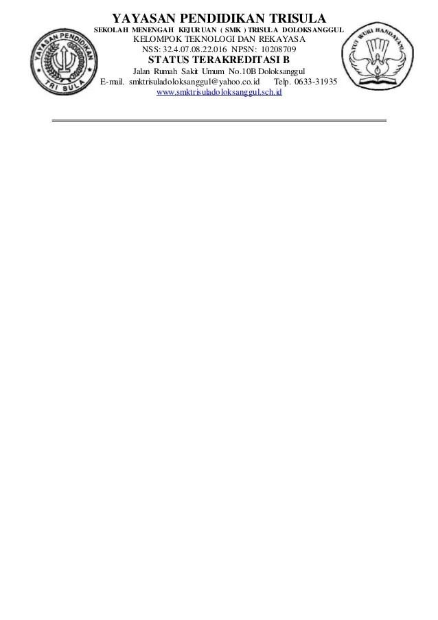 Contoh Kop Surat Yayasan Pondok Pesantren