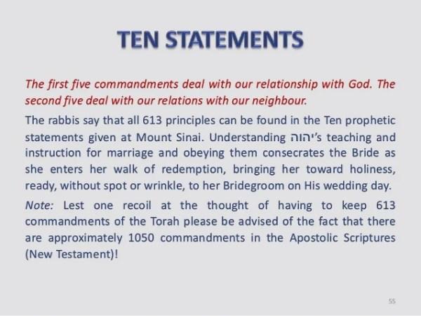 10 commandments 603 mitzvot # 52