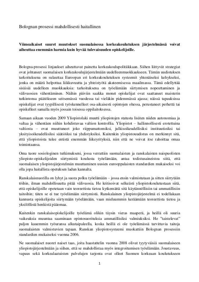 Opiskelijatutkimuksen päivä 2013: Yliopiston järjestelmät suomi ja ranska 2.2013