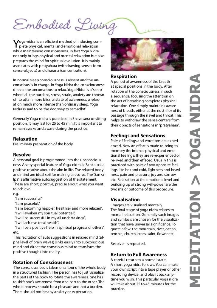 Yoga Nidra Script Pdf : nidra, script, Nidra