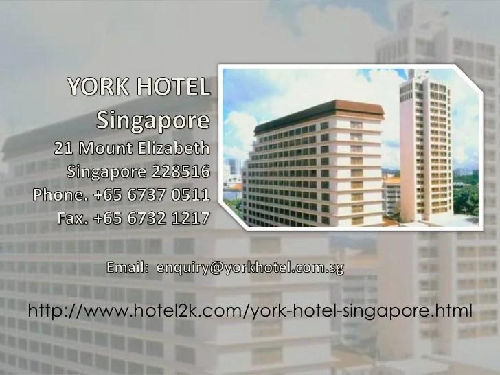 York Hotel In Singapore