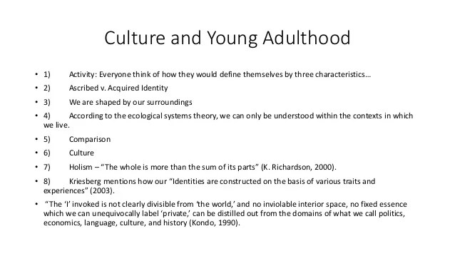 Young adulthood pp