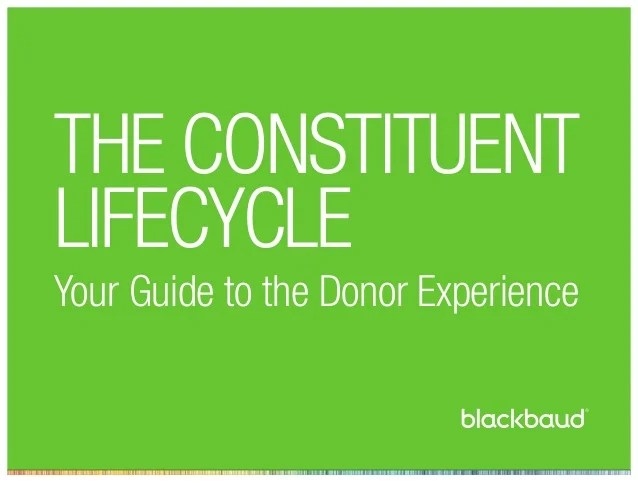 The Constituent Lifecycle: A Complete Guide to the Donor