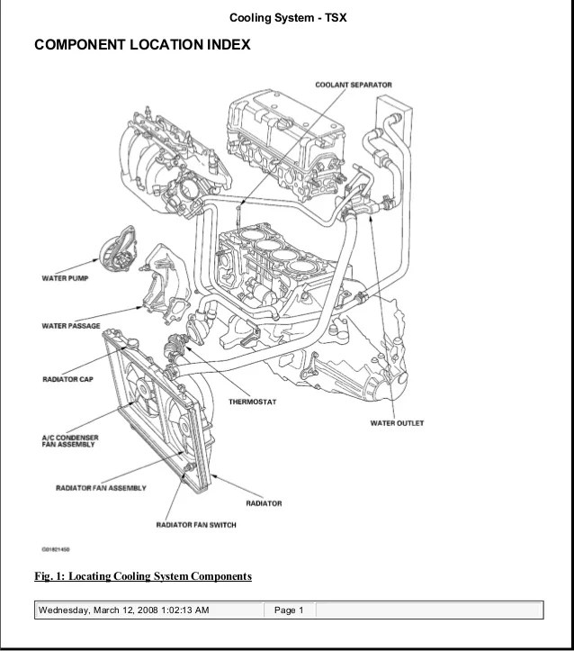 2004 Acura Tl Radiator Support Manual