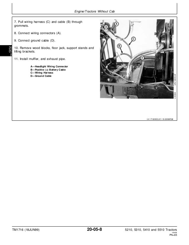 John Deere 5210 Wiring Diagram John Deere 5210 Tractor Service Repair Manual