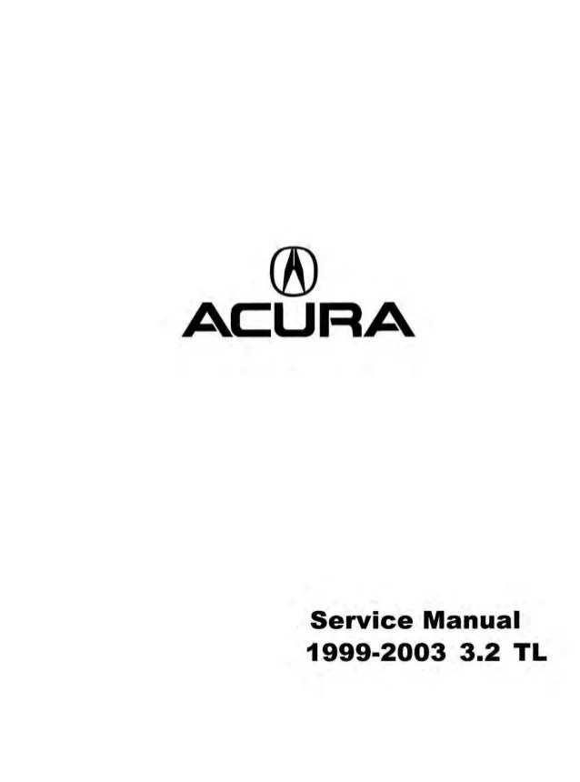 1999 Acura 32 Tl Owners Manual