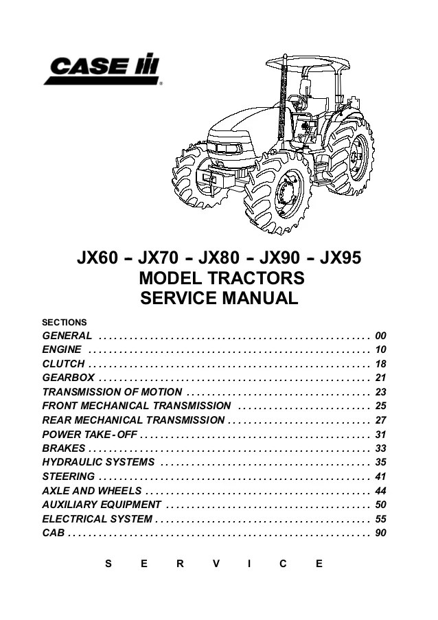 bosch internal regulator alternator wiring diagram parts of the outer ear case ih jx95 tractor service repair manual