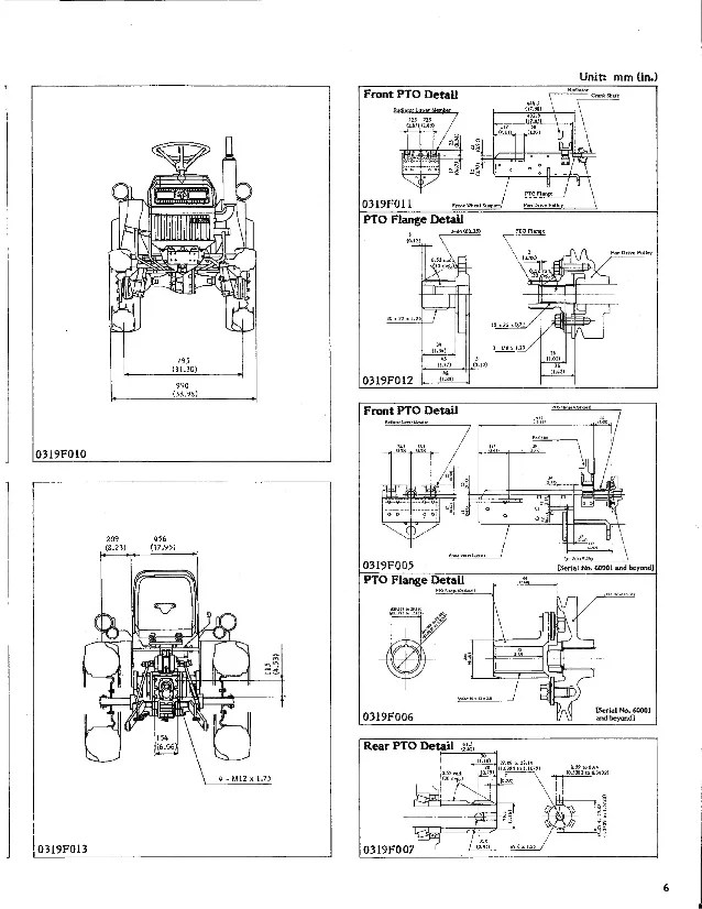 Kubota Tractor B6200 B7200 Operators Manual Wiring Diagram