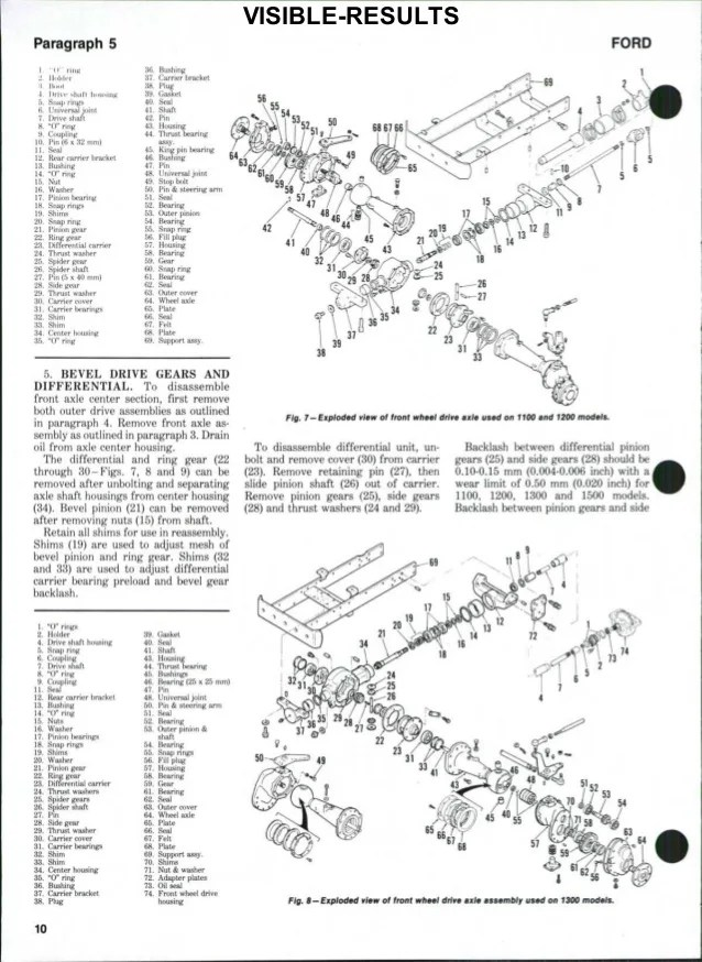 Ford 1510 Tractor Parts Diagram