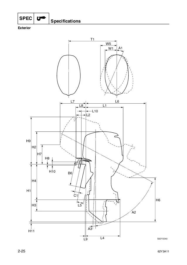 1991 yamaha c40 hp outboard service repair manual
