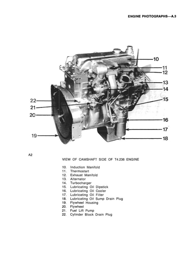 Perkins 4.236 A4.236 Diesel Engine Parts Manual Catalog