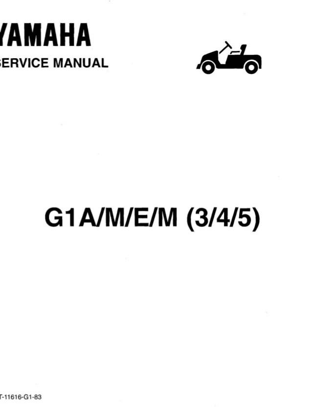yamaha golf english 2006 nissan x trail wiring diagram g1 car service repair manual