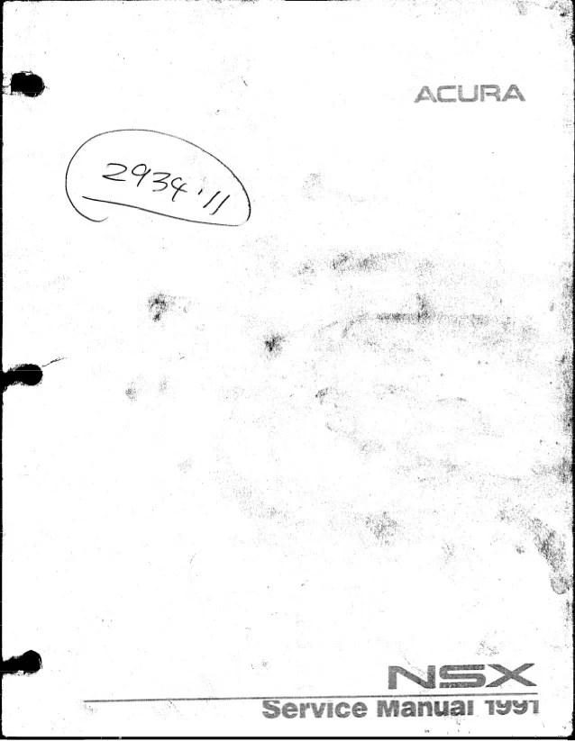 1998 Acura Rl Fuel Injector Holder Manual