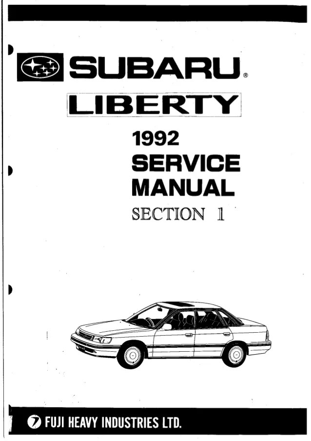 Car & Truck Manuals 1989 Subaru Owners Manual