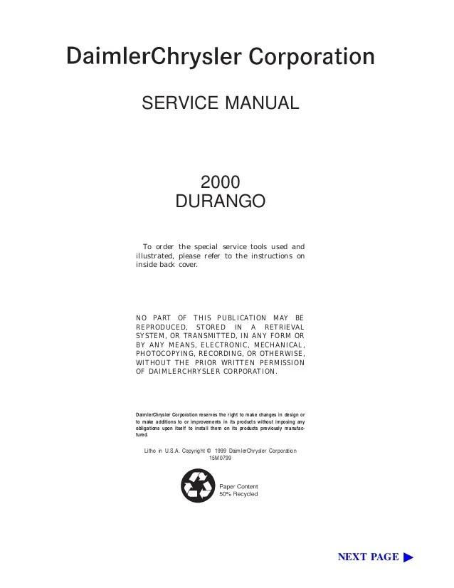 1999 Dodge Durango Brake System Diagram