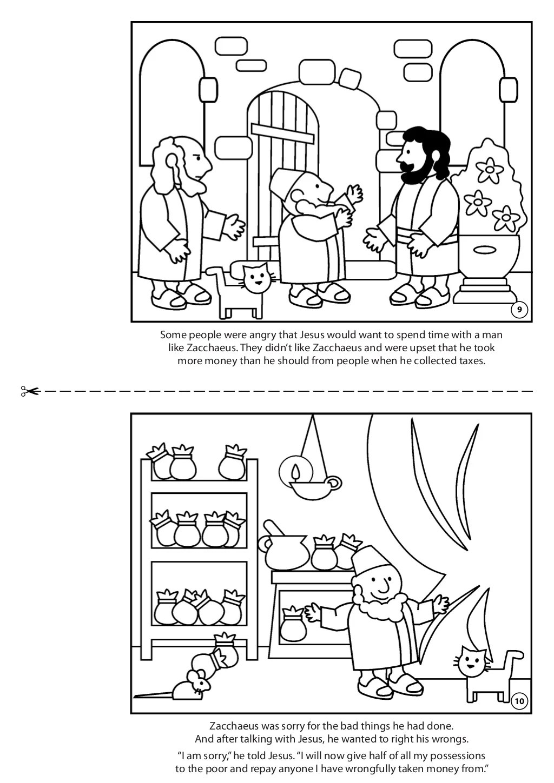 Zacchaeus Meets Jesus Coloring Book