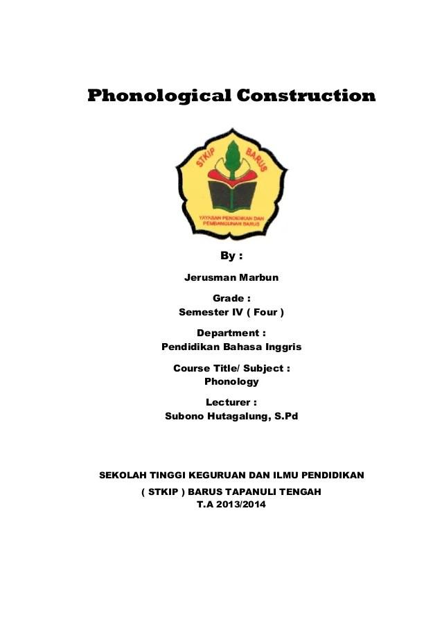 Makalah Part Of Speech : makalah, speech, Makalah, Phonological, Construction