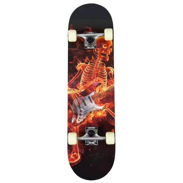 78cm Fire Skull Skateboard  Skateboards UK