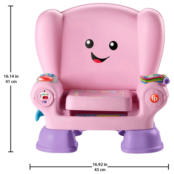 fisher price laugh and learn chair pink yellow leather swivel smart stage uk