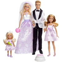 Ken And Barbie Wedding Gift Set Bride Groom Stacie Chelsea ...