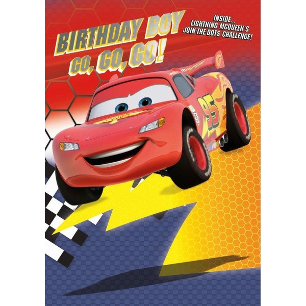 Disney Cars No Age Birthday Card Boy  Disney Cars Range UK