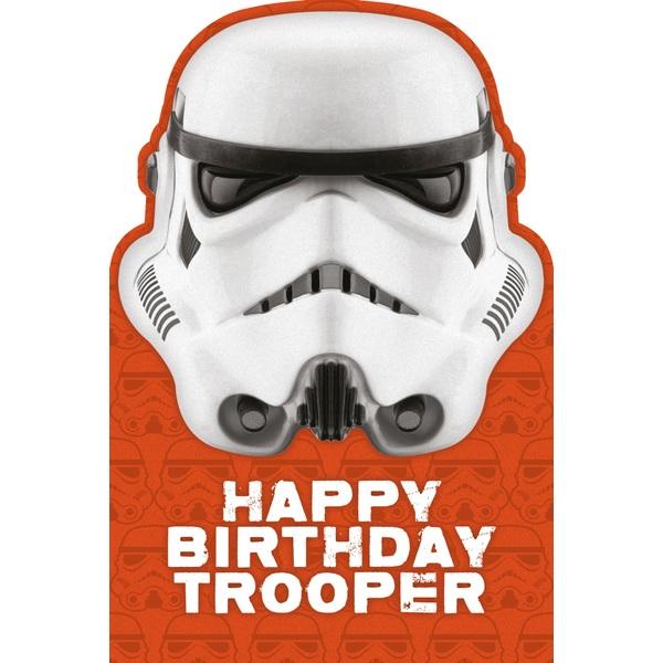 Star Wars Happy Birthday Trooper Birthday Card Partyware UK
