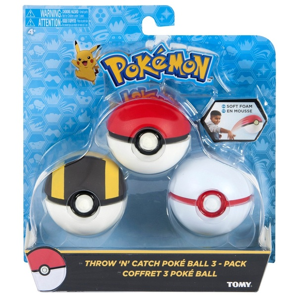 Throw N Catch Pokball 3 Pack  Pokemon UK