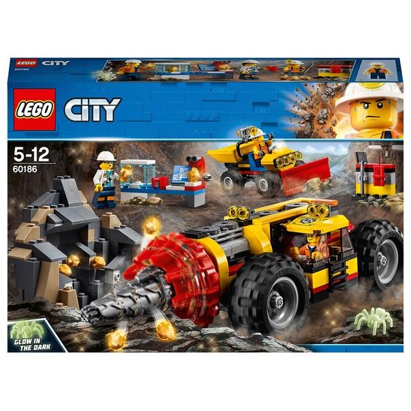 LEGO City 60186 Mining Heavy Driller  LEGO City UK