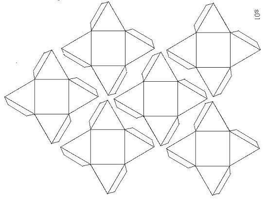 正三角錐を正三角面に載せた多面體   多面體紙工作で數學を楽しむ - 行動の記録 - 楽天ブログ