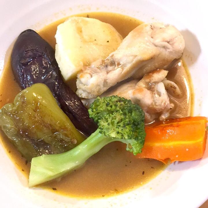 野菜たっぷり、家族に人気のスープカレー♪